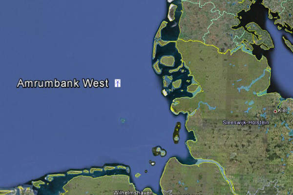 The 288MW Amrumbank wind farm is located in the German North Sea. Image: courtesy of Vos Prodect Innovations.