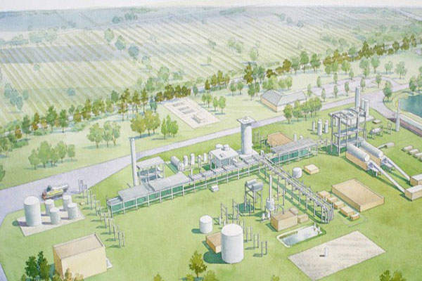 Artist's rendering of the $130m Indian River BioEnergy Centre. Image: courtesy of INEOS New Planet Bioenergy.