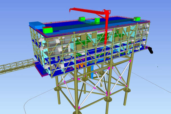 The output from the project is conveyed to TenneT's HelWin2 offshore converter station prior to being connected with the national grid.