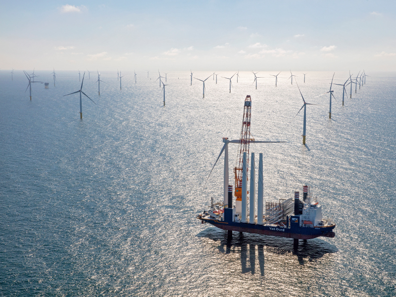 The Gemini offshore wind farm was commissioned in 2007. Credit: Netherlands Foreign Investment Agency.